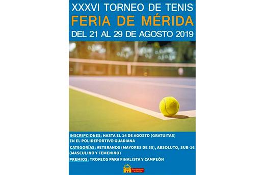 XXXVI Torneo de Tenis Feria de Mérida