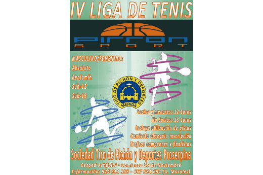 IV Liga de Tenis Pirron Sport
